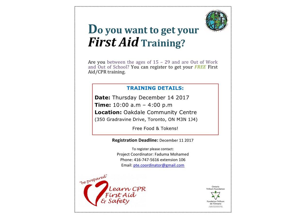 The Spot On Twitter Free Cpr Training Registration Deadline