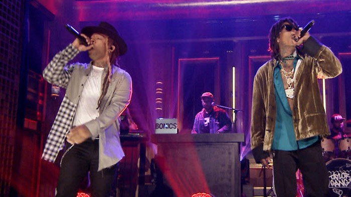 .@WizKhalifa & @TyDollaSign Perform 'Something New' On 'The Tonight Show' [WATCH] https://t.co/xjfNla8Dkd https://t.co/JSmIehb7FU