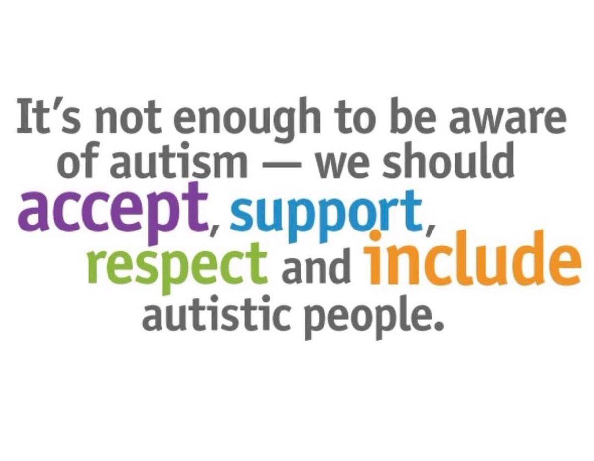 RT @tistje01: It's not enough to be aware - we should accept, support, respect and include ... https://t.co/L1gdLY9HVd