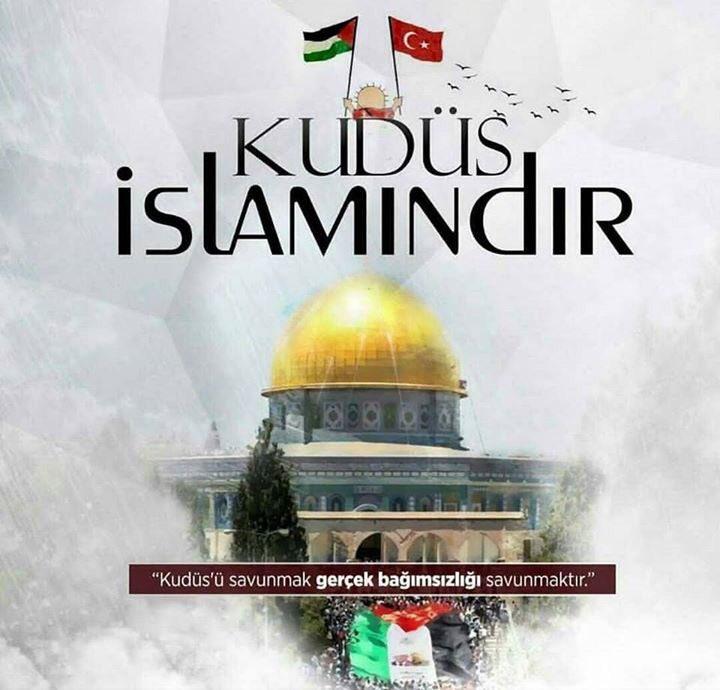 RT @seymet: #Kuduesİslamındır #KuduesBizimdir  #KudüseSahipÇık  #ÜmmetinKırmızıÇizgisiKUDÜS https://t.co/vgM5iBcOYC