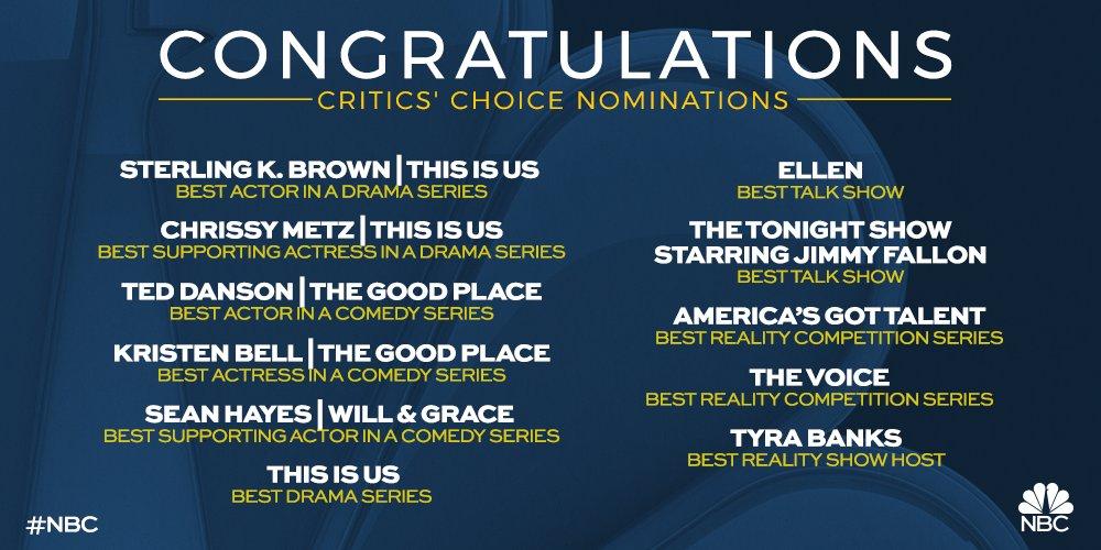 #WriteAHappyStoryIn4Words We're #CriticsChoice nominees!🙌
