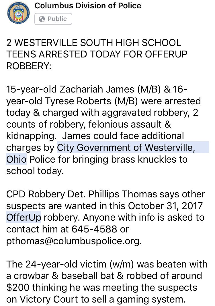 Columbus Ohio Police On Twitter 2 Westerville South Hs Teens
