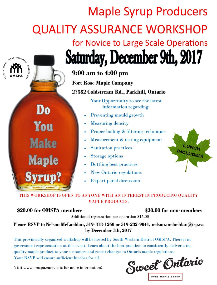 72c859b1d56 Ontario Maple Syrup on Twitter