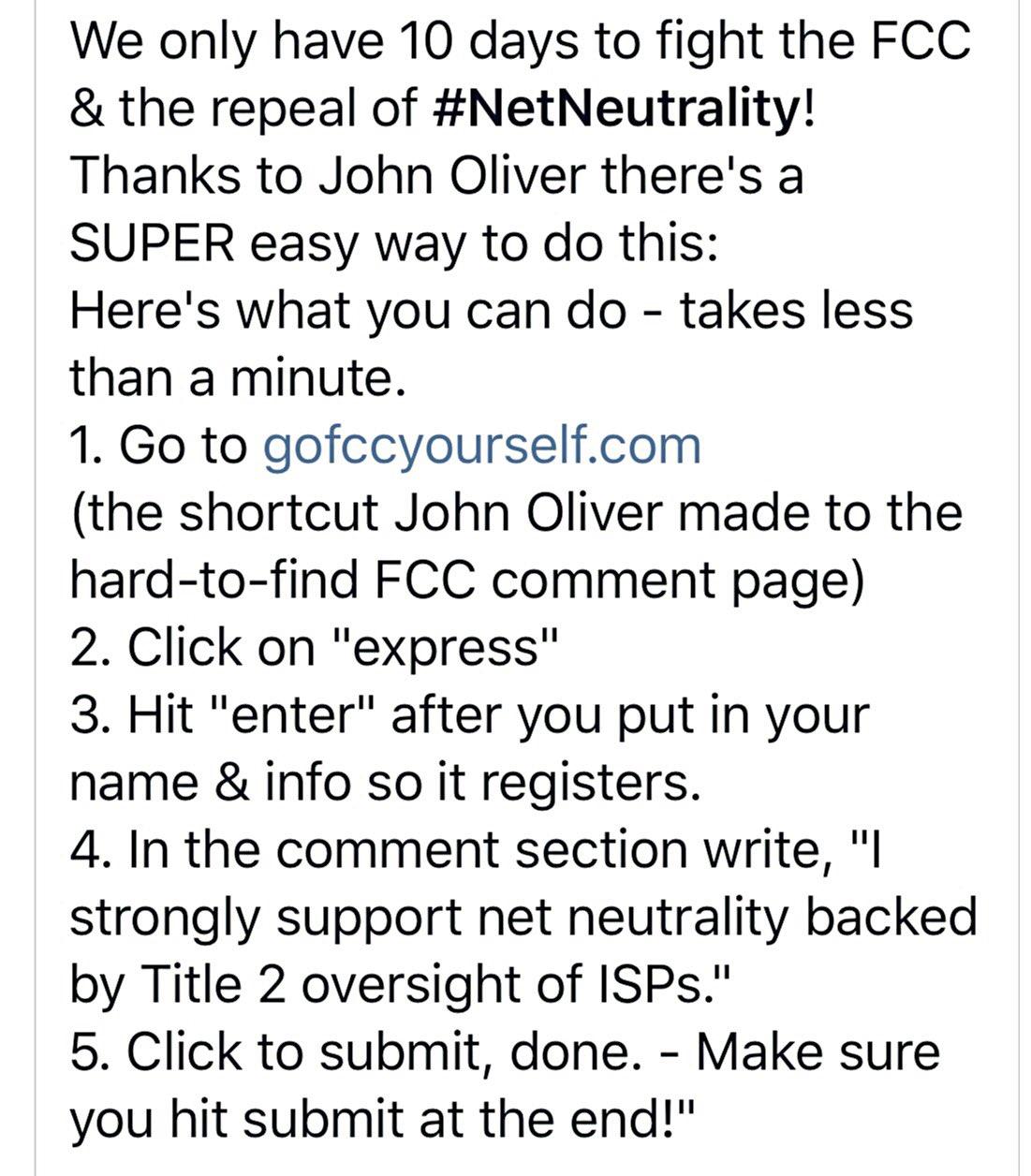 DO THIS! It's so easy! https://t.co/eZyJVa672b #NetNeutrality #FCC #HandsOffMyInternet https://t.co/gW0osecfgR
