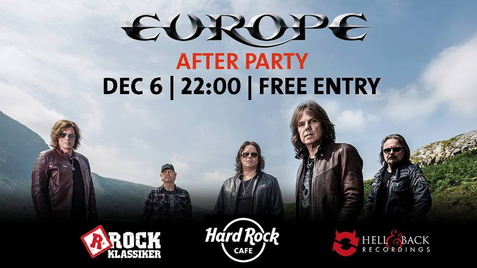 And now it's the EUROPE - After Party på Hard Rock.