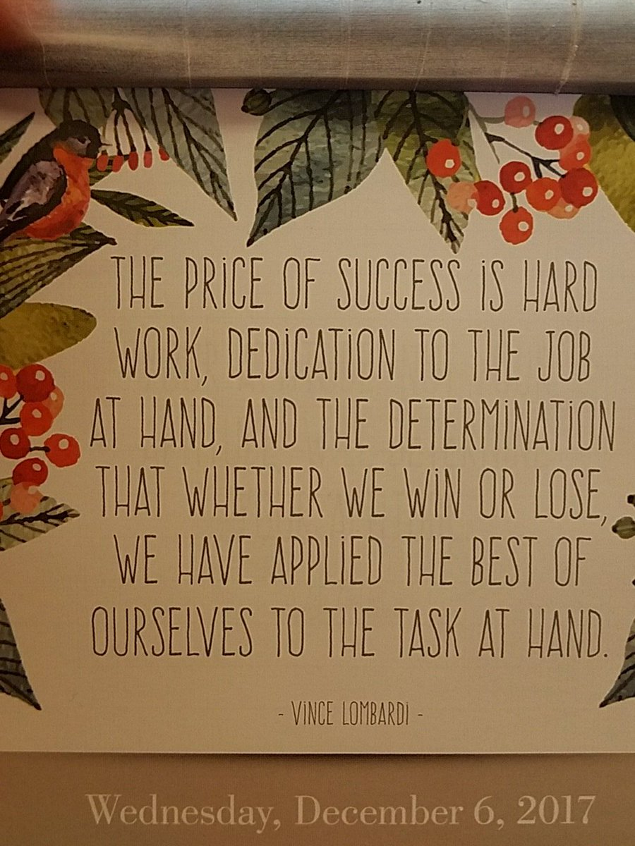 Wise words from the one of the greats! #VinceLombardi #HardWork<br>http://pic.twitter.com/Urx3D1tzwc