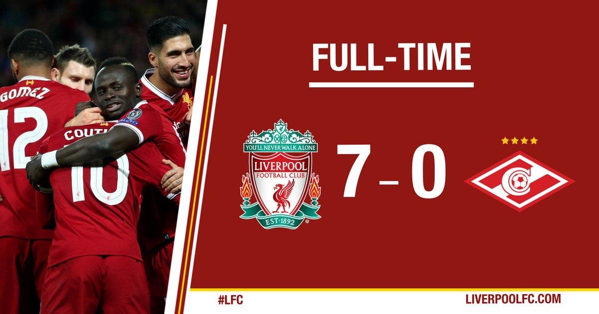 Chấm điểm trận Liverpool 7-0 Spartak Moscow