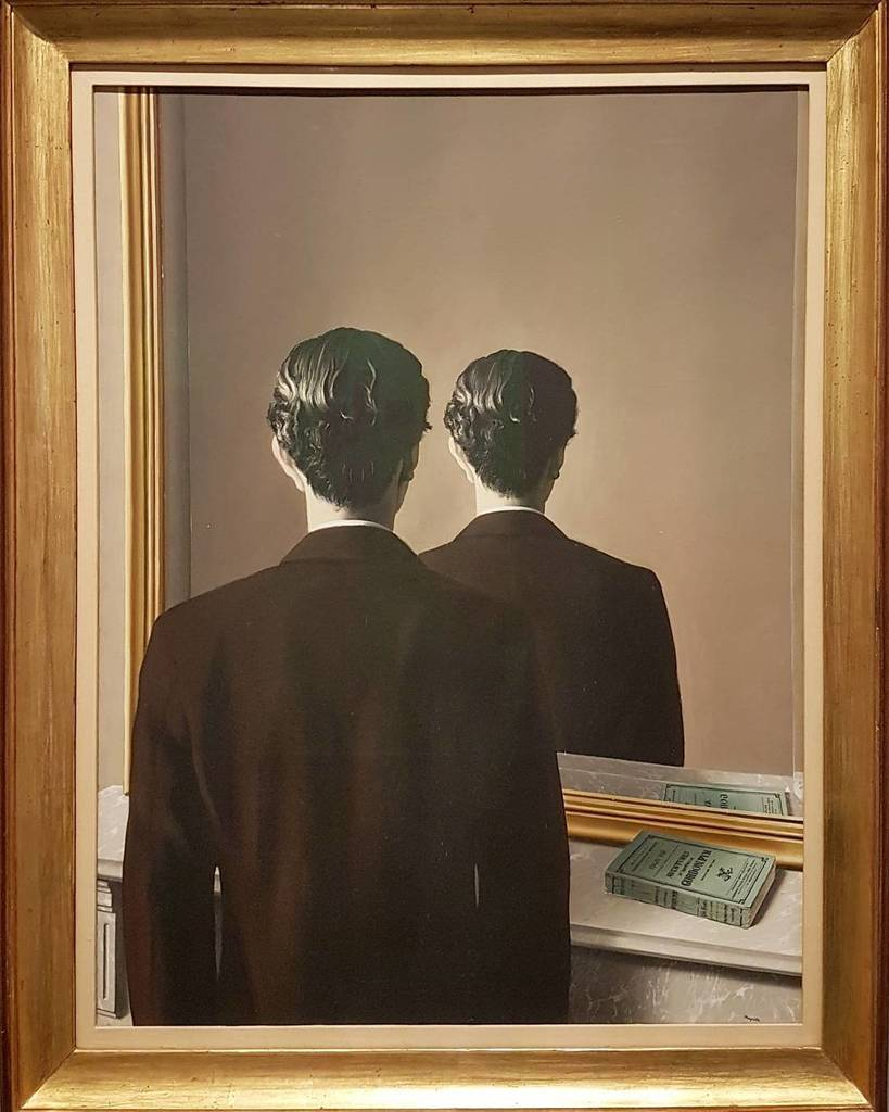 #ReneMagritte #expomagritte @FineArtsBelgium #painting #surrealism #mirror https://t.co/88L5flTbv1
