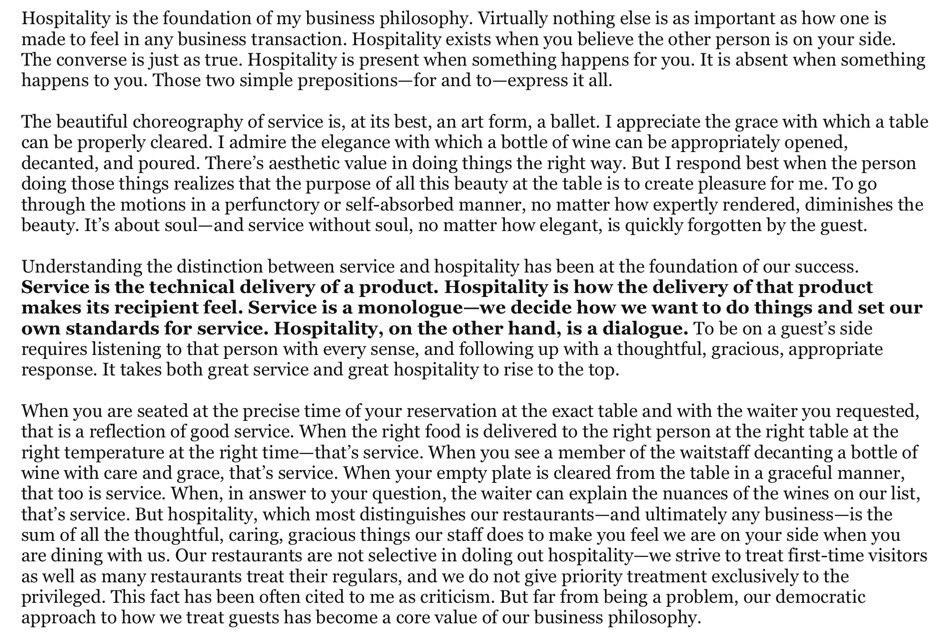 Service vs Hospitality