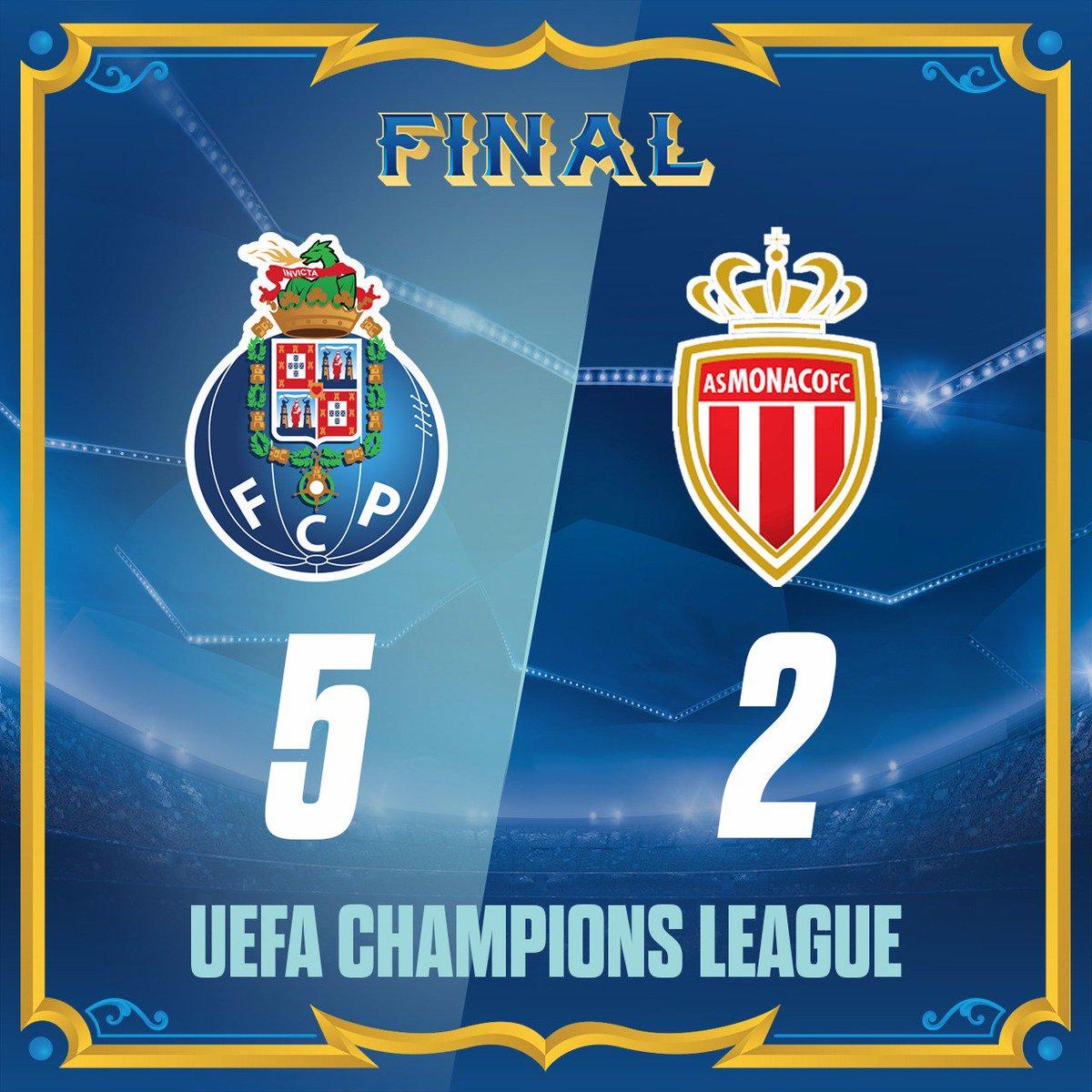 Final de Jogo / End of the match / Final del Partido  9' [1-0] Aboubakar ⚽ 33' [2-0] Aboubakar ⚽ 45' [3-0] Brahimi ⚽ 61' [3-1] Glik ⚽ 65' [4-1] Alex Telles ⚽ 78' [4-2] Falcao ⚽ 88' [5-2] Soares ⚽  #FCPorto #FCPASM #UCL