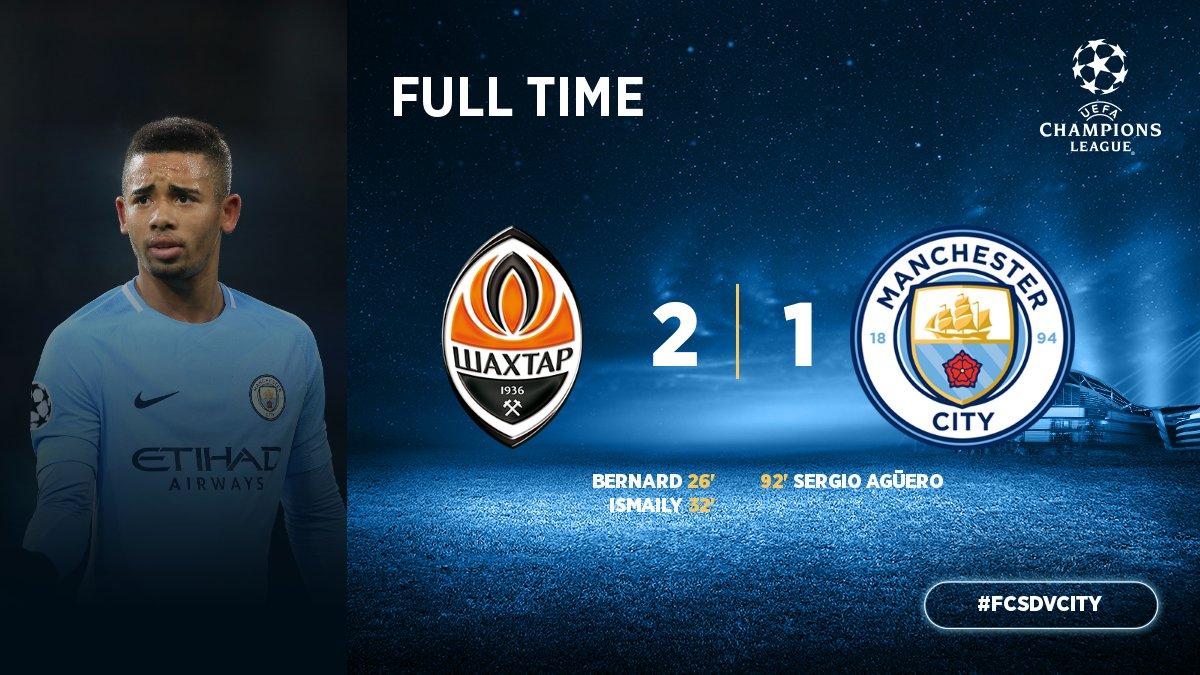 Chấm điểm trận Shakhtar Donetsk 2-1 Manchester City