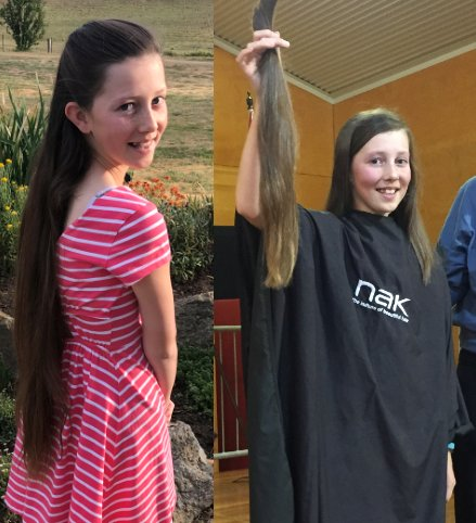 Let&#39;s hear it for young Mia Hain, who lopped her locks to raise $3k for @braincancer_AU. The Cooma Nth Primary student wanted to raise funds to beat brain cancer after losing her her grandad to the disease. Well done! Thank you! #research #advocacy #awareness #curebraincancer<br>http://pic.twitter.com/VRw9ZjayfY