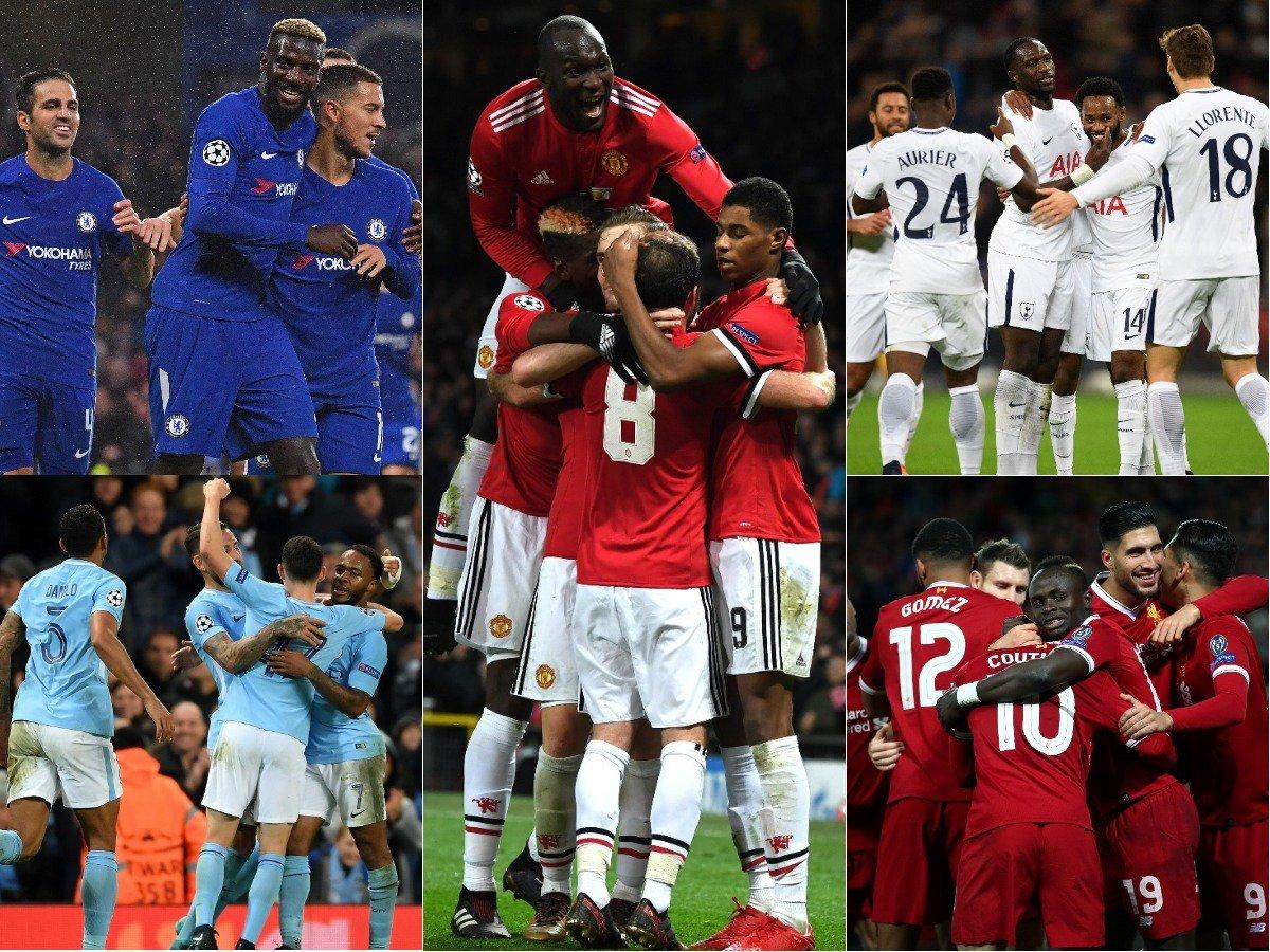 Chelsea ✅ Liverpool ✅ Man City ✅ Man Utd ✅ Spurs ✅  FIVE #PL clubs advance to the #UCL last 16