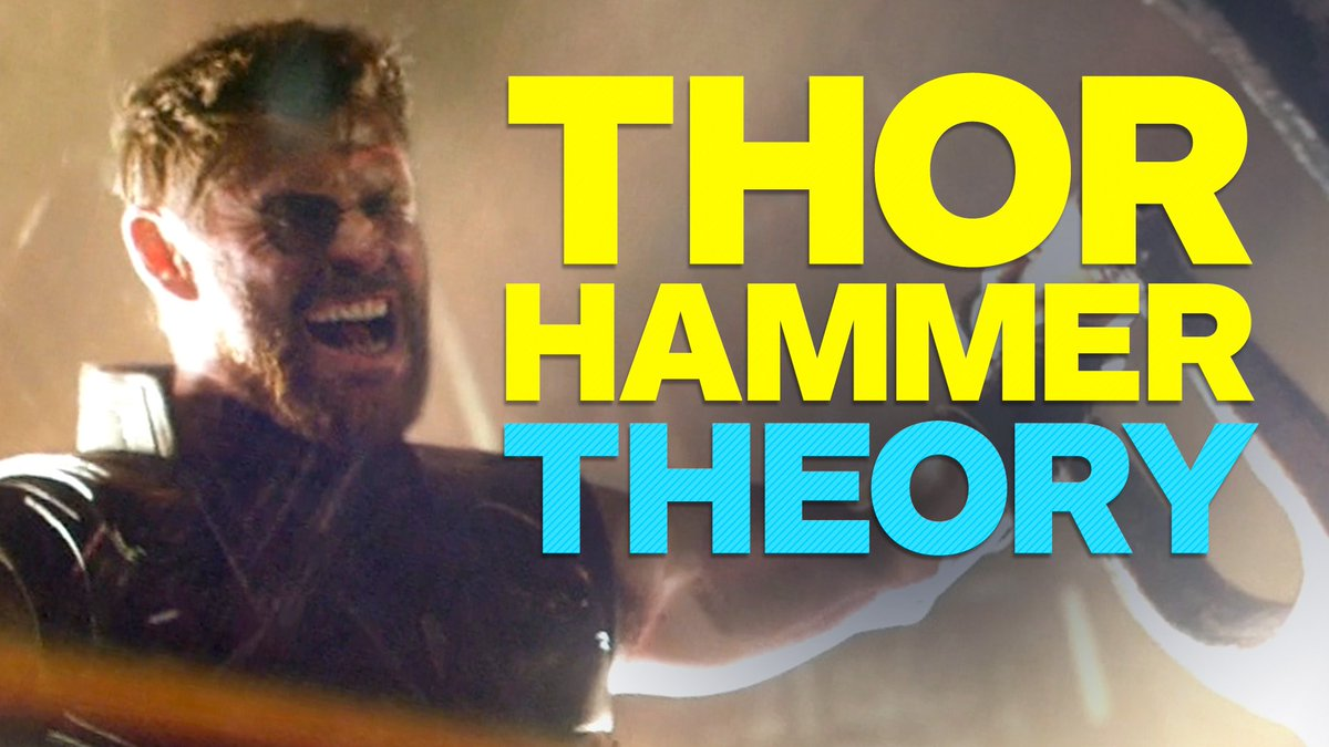 Theory: The #Avengers: #InfinityWar trailer might have a big hint about #Thor's hammer...  https://t.co/5ODQDpotPe
