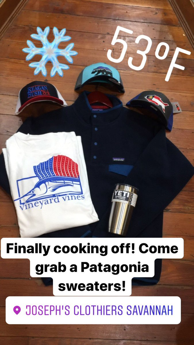 3b5a47210789a We are open today until 6pm and tomorrow from 9-6pm!  patagonia  yeti   southernsnap  josephs  28wbroughtonst  9122325503pic.twitter.com TbTsqzuHr9