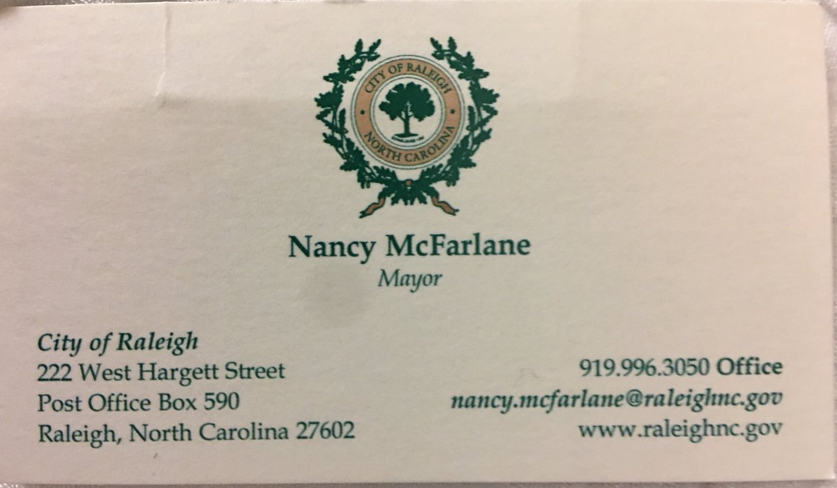 Business cards raleigh nc image collections free business cards nancy mcfarlane nancymcfarlane twitter amazing when the mayor of your city has a photo of favorite magicingreecefo Images