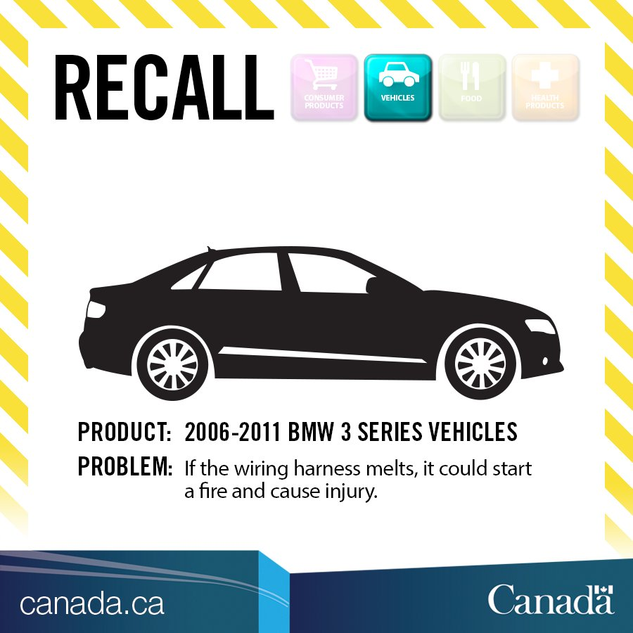 transport canada on twitter recall bmw 3 series vehicles the rh twitter com BMW E46 Wiring Harness BMW E46 Wiring Harness