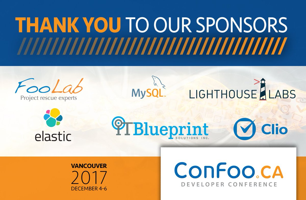 Confoo conference on twitter thank you to all our sponsors confoo conference on twitter thank you to all our sponsors foolabca mysql lighthouselabs goclio itblueprint elastic malvernweather Gallery