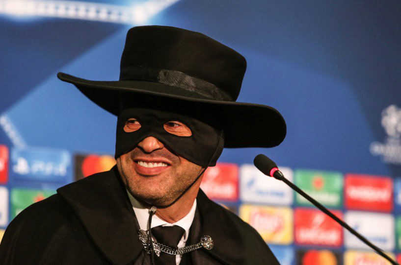 Shakhtar Donetsk manager Paulo Fonseca promised to dress up as Zorro if they advanced to the final 16 of the Champions League.   Wednesday: Shakhtar 2-1 City ✈️
