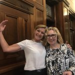 Was wonderful to have the ⭐️ @FMeasham at parliament when we finally passed the supervised injecting centre legislation! That was my oompla loompa pose @ACTINOSProject