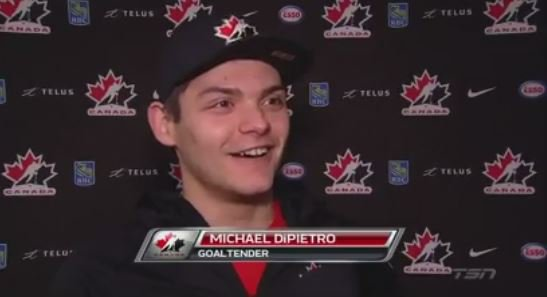 DiPietro: Goalie competition is high, but we're all good buddies. VIDEO: https://t.co/ZxIRZZRGfz