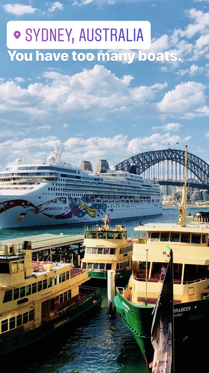 Can someone please tell Sydney to move some of these boats out the way? They're blocking my view.