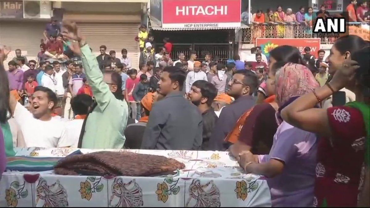 Visuals from Ahmedabad's Sabarmati, Prime Minister Narendra Modi will cast his vote at booth number 115 here. #GujaratElection2017