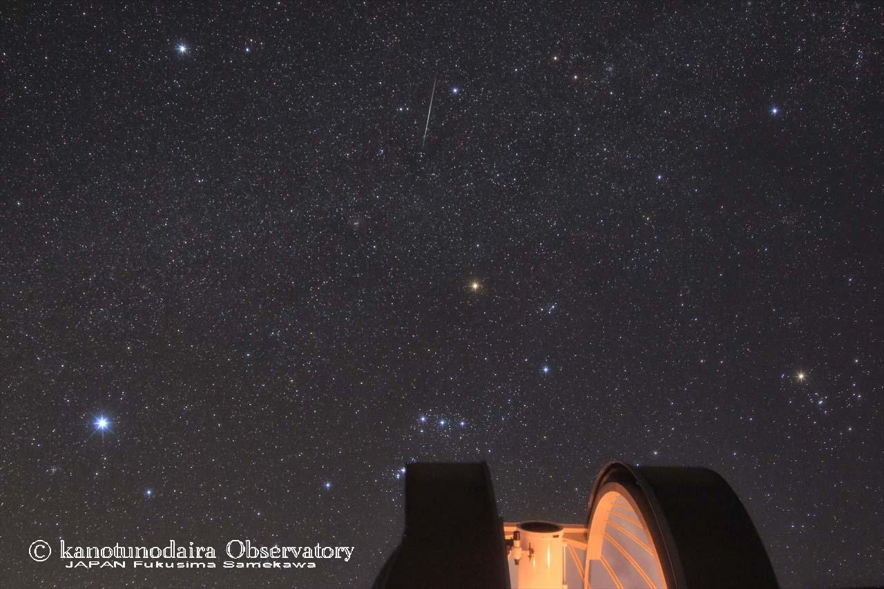 昨夜のふたご座流星群。