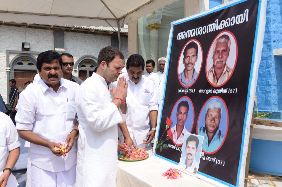Congress President-Elect Rahul Gandhi pa...
