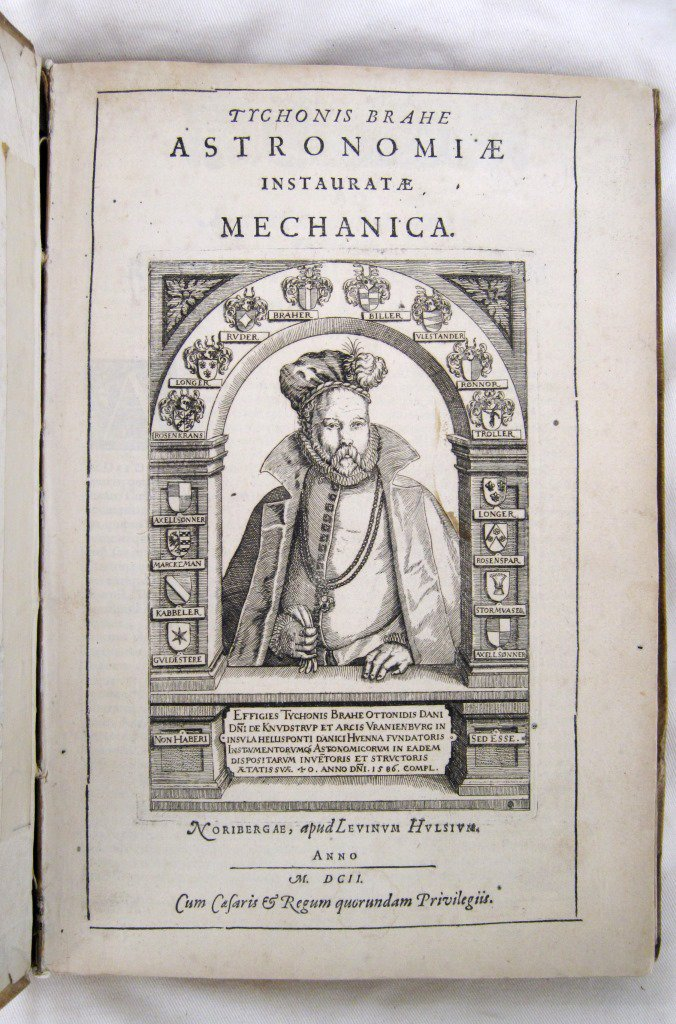 Happy Birthday to Tycho Brahe!   Born #OnThisDay in 1546, he wore an artificial nose (he lost part of his nose in a duel) and was a hugely skilled astronomer, accurately charting the positions of 777 stars & identifying the 1572 supernova. Photo of his work from our Library.