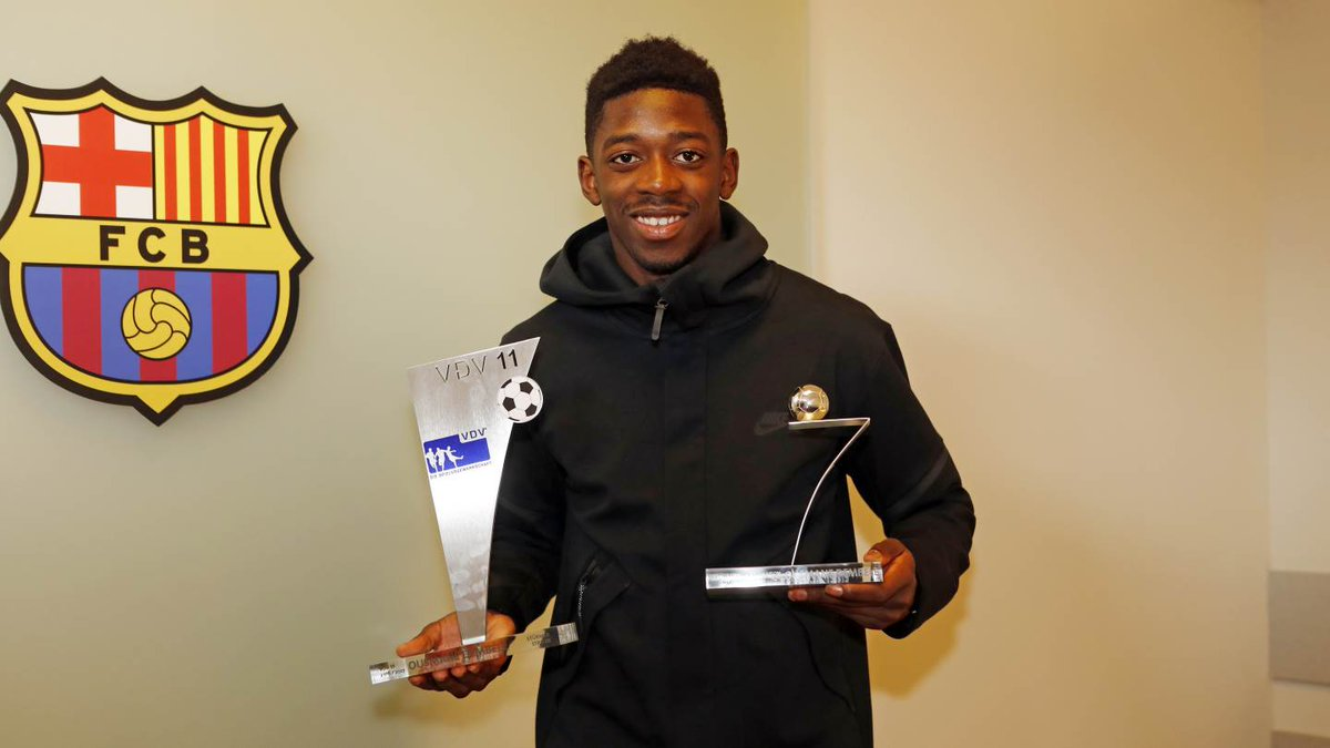 Ousmane Dembélé named 2016/17 Bundesliga Rookie of the Year and to the Team of the Year as well! Congrats, Ousmane! 👏👏👏