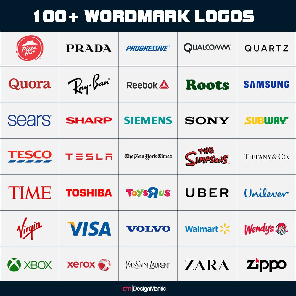 Designing A Wordmark Logo Here Is List Of Over 100 Logos For Your Inspiration