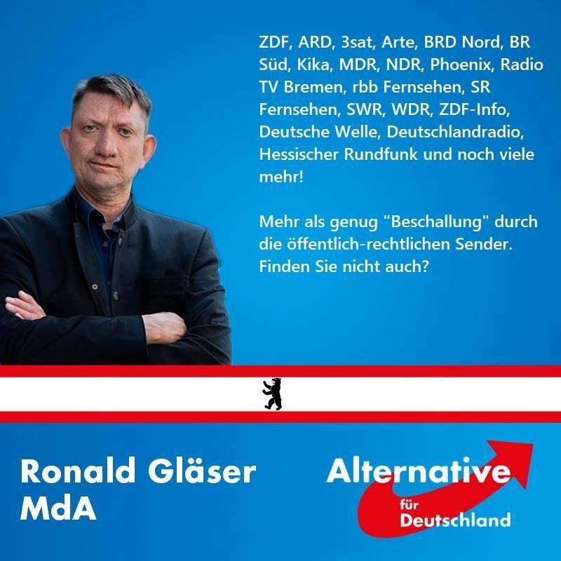 RT @ronaldglaeser: Das Rundfunksystem muss reformiert werden. Ohne Zwangsfernsehen und Rotlichtbestrahlung. https://t.co/Eu2LyFPglU