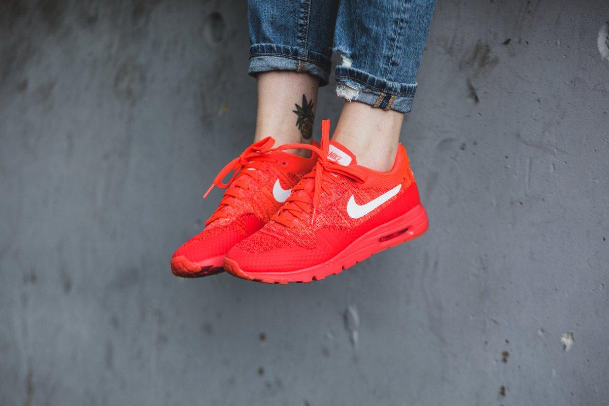 Nike Air Max 1 Ultra Flyknit Womens Bright Crimson