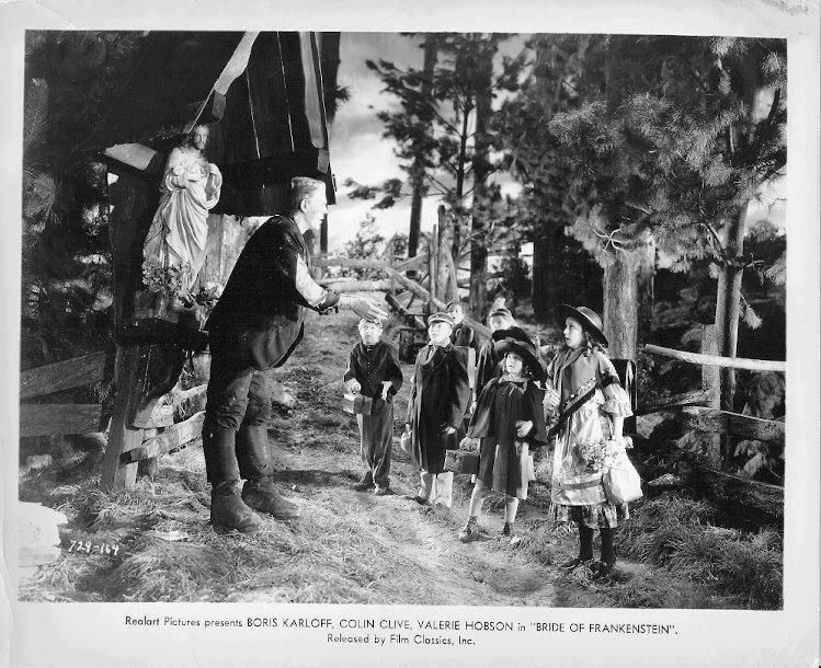 #Publicity #still from #Bride Of #Frankenstein 1935. The village children at the wrong place at the wrong time.<br>http://pic.twitter.com/t4PMwd53bc