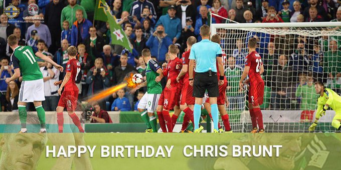Happy birthday to Chris Brunt! We all know what happened next in this photo...