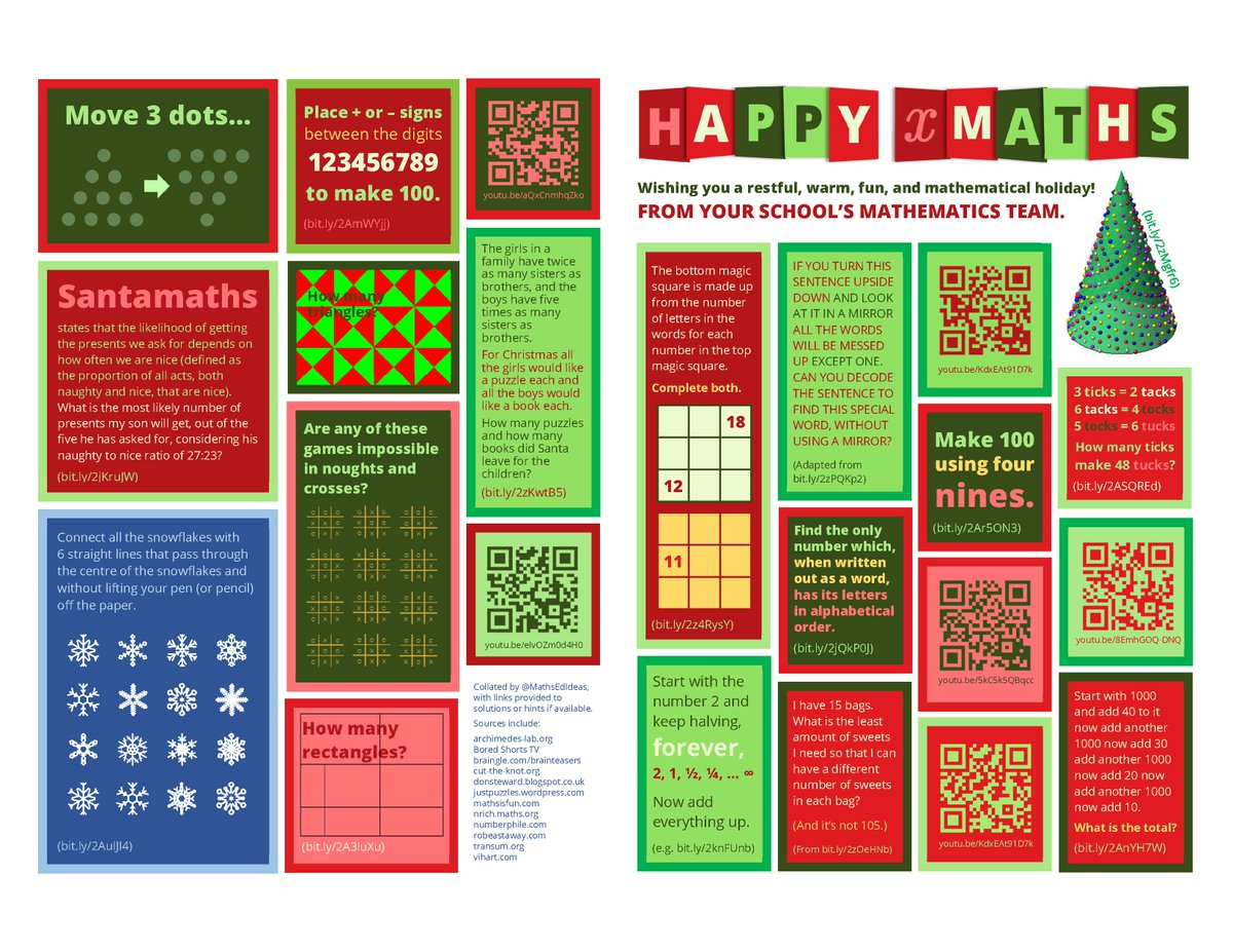 Fun maths puzzles for every year group and parents too! Specially made by the Maths faculty. #GISLearning #WeAreGIS<br>http://pic.twitter.com/KTwnlv6nyr