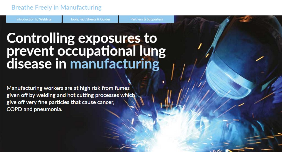 Manufacturing workers are at high risk from fumes given off by welding and hot cutting processes. Use these helpful tools, factsheets and guides  http:// bit.ly/2hgWTTt  &nbsp;   @BOHSworld #manufacturing #healthandsafety<br>http://pic.twitter.com/6SPVVnV3Mw