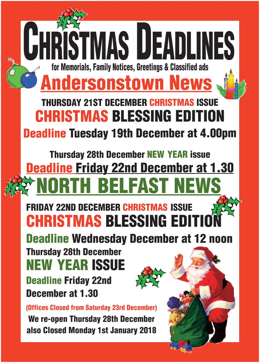 Linda greenan lindagreenan twitter get 25 off all memorials and greetings check out all the classified deadlines for the festive papers remember our kcbelfast kiosk opens on saturday kristyandbryce Images