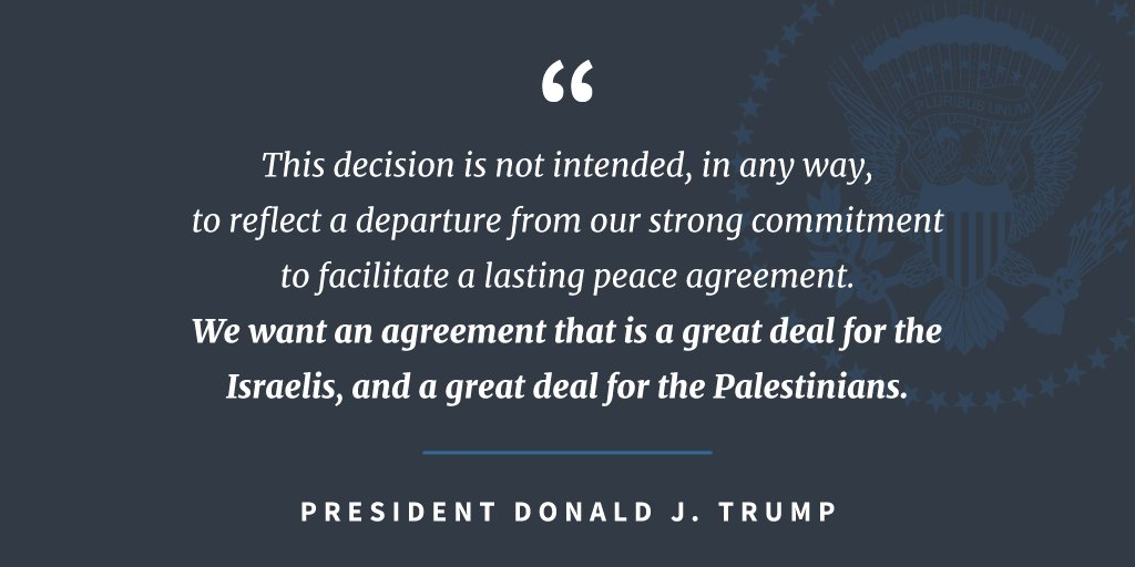 President Trump's proclamation on Jerusalem as the capital of the State of Israel: https://t.co/67yWkkXLV4 https://t.co/q5d1fNuhkd