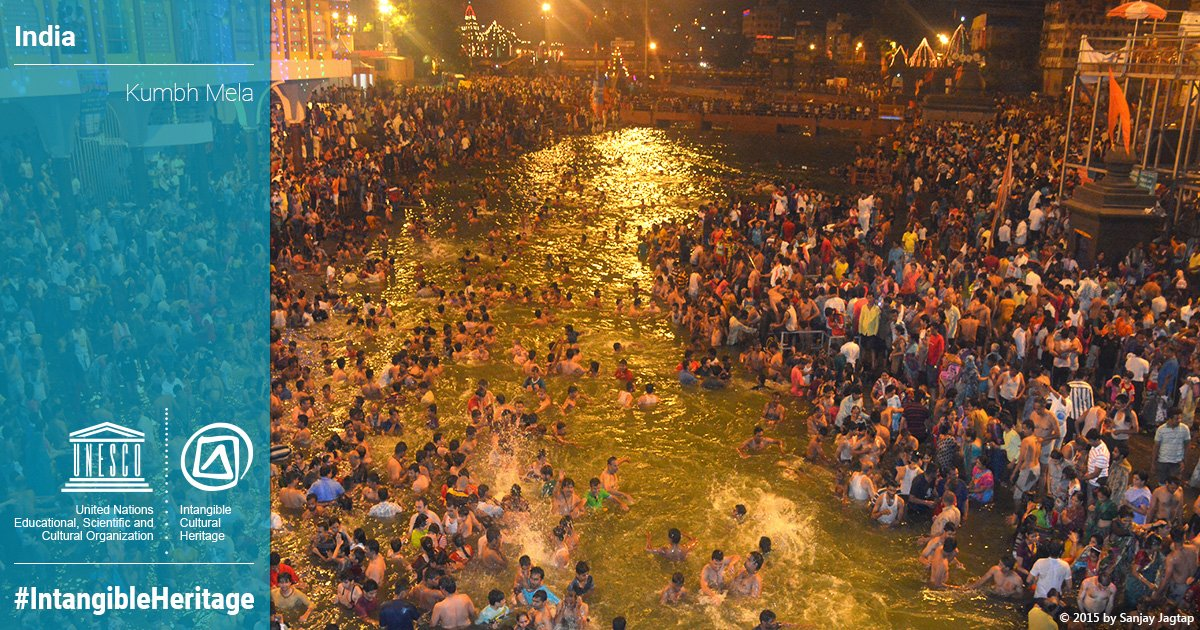 Kumbh Mela  just inscribed on the Representative List of the Intangible Cultural Heritage of Humanity. Congratulations, #India #IntangibleHeritage  #12COM   ℹ️  https://t.co/Vt9a4zn4rl
