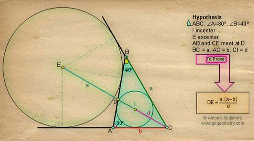 gogeometry #Euclidean #Geometry Problem 40: Triangle
