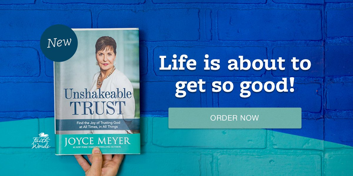 Trusting God is the beginning of all healing! Start your journey to healing with Joyce&#39;s newest book, #UnshakeableTrust. Order now at  http:// joycemeyer.org/trust  &nbsp;   #TrustGod #GoodRead<br>http://pic.twitter.com/eVT4RAPUjv