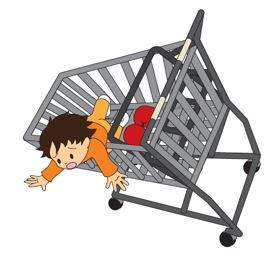 【ショッピングカートからの転落に注意!】ショッピングカートから子どもが転落し、頭蓋骨骨折等のけがをす…