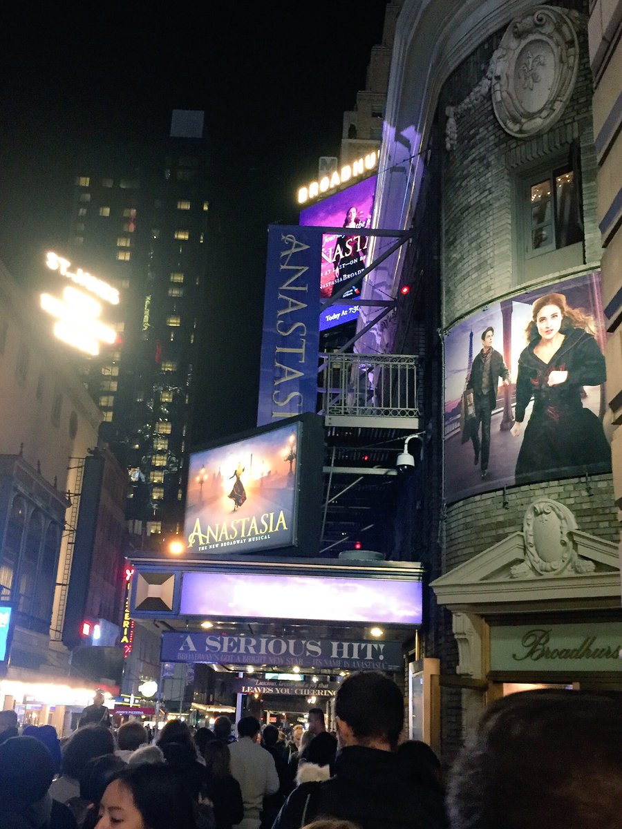 I was lucky enough to catch @AnastasiaBway on my trip to New York last week. Wonderful show. Stunning costumes, great set, fabulous cast and a heartwarming story  #anastasiathemusical #broadhursttheatre #broadway #nyc<br>http://pic.twitter.com/nC60i5LNtF