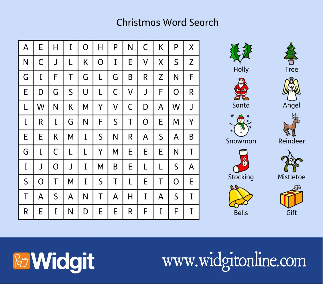 Word search christmas online gifts
