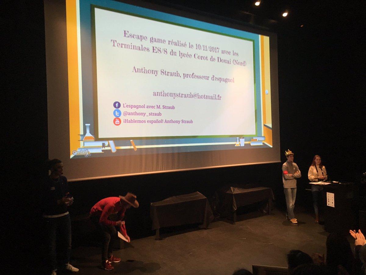 @Anthony_Straub_  Bravo pour la présentation de vos élèves au #SEG2017 ! Apprendre dans l'action ! Une magnifique démonstration ! J'aurai tellement vous avoir eu comme enseignants ! BRAVO à vos élèves ! pic.twitter.com/a3n1dYjcnz