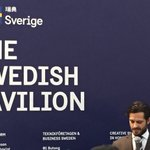 Image for the Tweet beginning: Prince Carl-Philip inaugurating the Swedish
