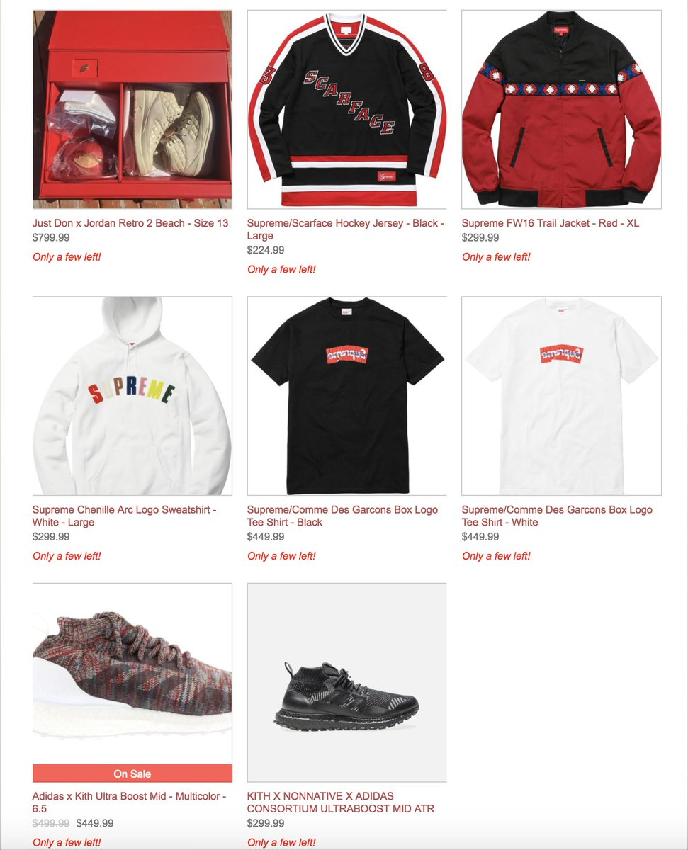c1ba7272c288 ... Supreme/Scarface Jerseys, Kith x Adidas Ultra Boost Mids and more  #HSSteals available on http://heatedsneaks.com ! All physical items include  a copy of ...