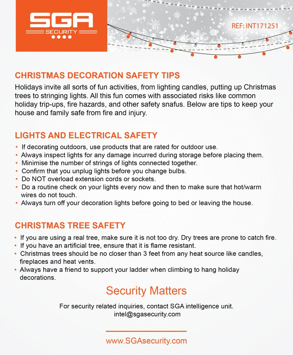 sga security on twitter christmas decorating safety tips - Christmas Decorating Safety Tips